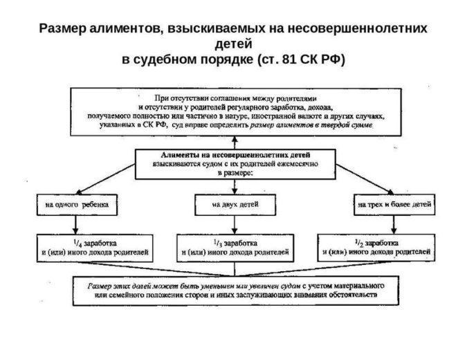 Алиментные обязательства по СК РФ